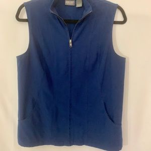 Additions by Chico's navy blue zippered vest